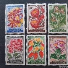 Sellos: COSTA DE MARFIL, YVERT 193-198** SIN 193A, 1961-62. Lote 194101363