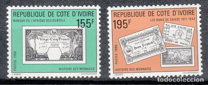 COSTA DE MARFIL 1990 - BILLETES - YVERT Nº 841/842** (Sellos - Extranjero - África - Costa de Marfil)
