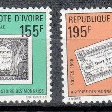 Sellos: COSTA DE MARFIL 1990 - BILLETES - YVERT Nº 841/842**. Lote 198145288
