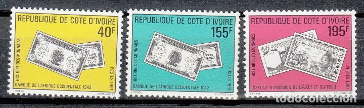 COSTA DE MARFIL 1991 - BILLETES - YVERT Nº 850/852** (Sellos - Extranjero - África - Costa de Marfil)