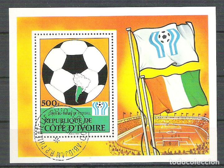 Sellos: Ivory Coast 1978 Sport, perf. sheet, used R.010 - Foto 1 - 198264087