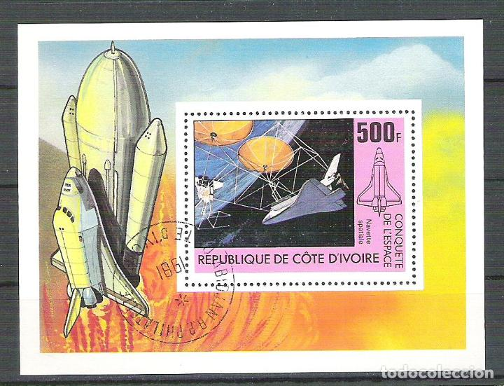 IVORY COAST 1981 SPACE, PERF. SHEET, USED R.011 (Sellos - Extranjero - África - Costa de Marfil)