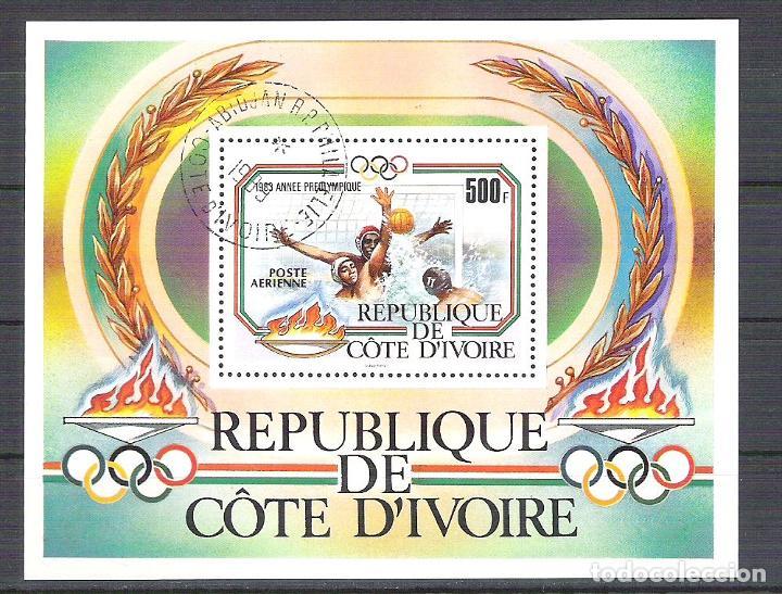 IVORY COAST 1983 SPORT, PERF. SHEET, USED R.067 (Sellos - Extranjero - África - Costa de Marfil)