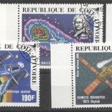 Sellos: IVORY COAST 1986 SPACE, USED AG.009. Lote 198272748