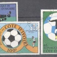 Sellos: IVORY COAST 1978 FOOTBALL, SOCCER, USED AF.015. Lote 198272817