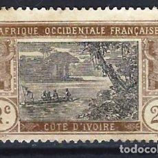 Sellos: COSTA DE MARFIL 1913 - LAGUNA DE EBRIÉ - SELLO SIN GOMA. Lote 206199393
