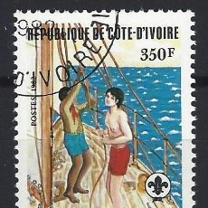 Sellos: COSTA DE MARFIL 1982 - 75º ANIV. DEL MOVIMIENTO SCOUT - SELLO USADO. Lote 206202647