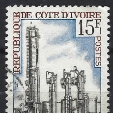 Sellos: COSTA DE MARFIL 1968 - INDUSTRIAS, REFINERÍA. ABIDJAN - USADO. Lote 215176186