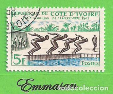 COSTA DE MARFIL - MICHEL 233 - YVERT 201 - JUEGOS DEPORTIVOS DE ABIDJAN. (1961). NUEVO MATASELLADO. (Sellos - Extranjero - África - Costa de Marfil)