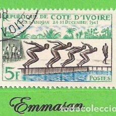 Timbres: COSTA DE MARFIL - MICHEL 233 - YVERT 201 - JUEGOS DEPORTIVOS DE ABIDJAN. (1961). NUEVO MATASELLADO.. Lote 215981683
