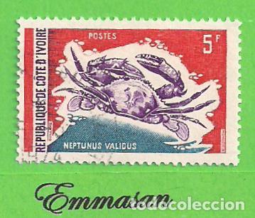 COSTA DE MARFIL - MICHEL 381 - YVERT 312 - CRUSTÁCIOS - CANGREJO. (1971). NUEVO MATASELLADO. (Sellos - Extranjero - África - Costa de Marfil)