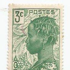 Sellos: SELLO DE COSTA MARFIL DE 1940- MUJER BAOULE- YVERT 151- VALOR 3 CENTIMOS. Lote 229096415