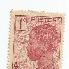 Timbres: SELLO DE COSTA MARFIL DE 1936- MUJER BAOULE- YVERT 109- VALOR 1 CENTIMO. Lote 229097020