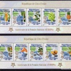 Sellos: COSTA DE MARFIL 2005, MICHEL ,1461-1465 + 1466-1470. Lote 231392480