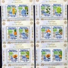Sellos: COSTA DE MARFIL 2005, MICHEL ,BL169-173 A + B. Lote 231392645