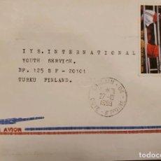 Sellos: O) COSTA DE MARFIL 1989, JUEGOS OLÍMPICOS DE VERANO SEÚL, BOXEO SCT C117, CORREO AÉREO A FINLANDIA. Lote 236455855
