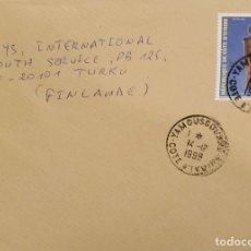 Sellos: O) 1998 COSTA DE MARFIL, TRAJES TRADICIONALES - RAFIA SCT 1026. DEL MUSEO GRAN-BASSAM. A FINLANDIA,. Lote 236457465