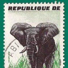 Timbres: COSTA DE MARFIL. 1959. FAUNA. ELEFANTE. Lote 236519785
