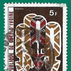 Timbres: COSTA DE MARFIL. 1973. MASCARAS. MUSEO DE ABIDJAN. Lote 236522440
