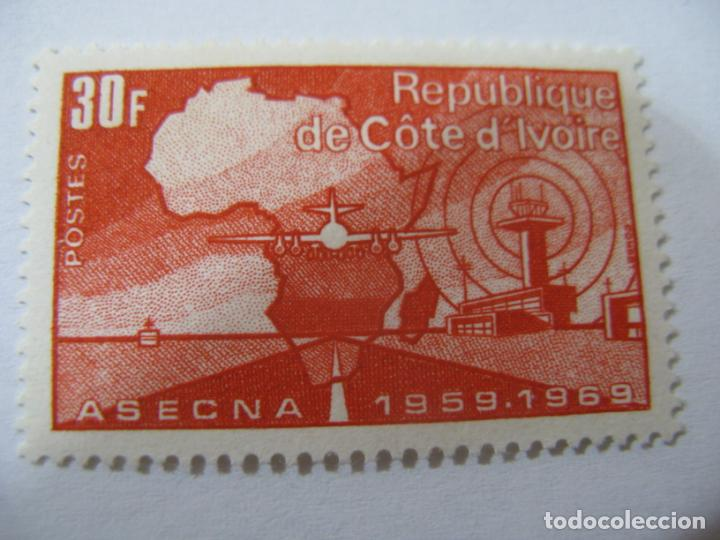 *COSTA DE MARFIL, 1970, 10 ANIVERSARIO DE ASECNA, YVERT 294 (Sellos - Extranjero - África - Costa de Marfil)