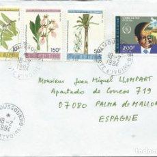 Sellos: 1994. COSTA DE MARFIL/IVORY COAST. SOBRE CIRCULADO. FLORA. ORQUÍDEAS. FLOWERS.. Lote 252368190