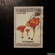 Selos: COSTA DE MARFIL YVERT 1242 SELLO SUELTO USADO 2005 FLORA. SETAS. PEDIDO MÍNIMO 3 €. Lote 290866643