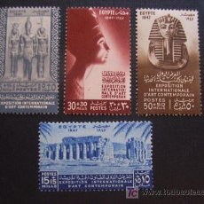 Francobolli: EGIPTO Nº YVERT 250/3*** AÑO 1947.EXPOSICION INTERNACIONAL DE ARTE CONTEMPORANEO. Lote 37414244