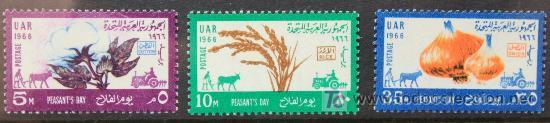 EGIPTO 3 SELLOS NUEVOS MNH 1966 EGYPT E244 (Sellos - Extranjero - África - Egipto)