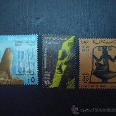 Francobolli: Nº YVERT 631/3***. AÑO 1964. PRO MONUMENTOS DE NUBIA. Lote 19891567