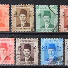 Sellos: EGIPTO 11 SELLOS USADOS SERIE COMPLETA 1937-44 EGYPT E160. Lote 21910120