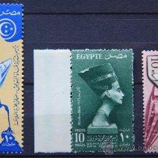 Sellos: EGIPTO 3 SELLOS NUEVOS MNH 1956 EGYPT E204M. Lote 23769934