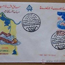 Sellos: EGIPTO EGYPT FDC - SOBRE PRIMER DÍA 15-10-1963 NATACIÓN SWIMMING. Lote 25501438