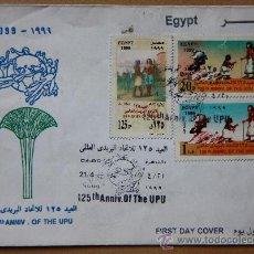Sellos: EGIPTO EGYPT SOBRE PRIMER DÍA FDC FIRST DAY COVER 1999. Lote 29635200