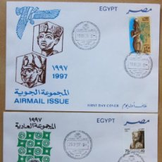Sellos: EGIPTO EGYPT SOBRES DEL PRIMER DÍA FDC FIRST DAY COVER 1997. Lote 35952485