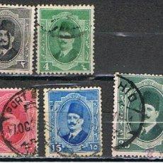 Francobolli: EGIPTO // YVERT 82, 83, 85, 86, 87, 88, 89, 90 // 1922-24 ... USADOS. Lote 42691384
