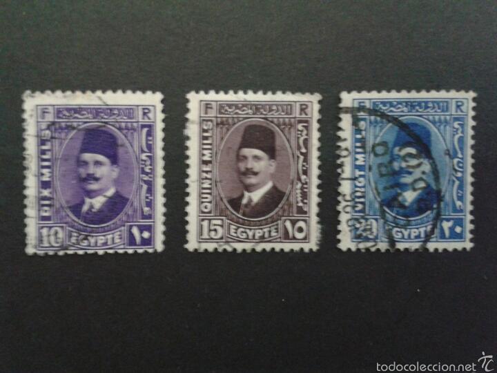 SELLOS DE EGIPTO.. YVERT 169/71. SERIE COMPLETA USADA. (Sellos - Extranjero - África - Egipto)