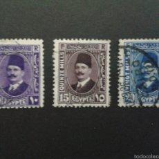 Sellos: SELLOS DE EGIPTO.. YVERT 169/71. SERIE COMPLETA USADA.. Lote 57354125
