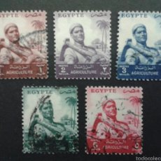 Sellos: SELLOS DE EGIPTO.. YVERT 365/9. SERIE COMPLETA USADA.. Lote 57354143