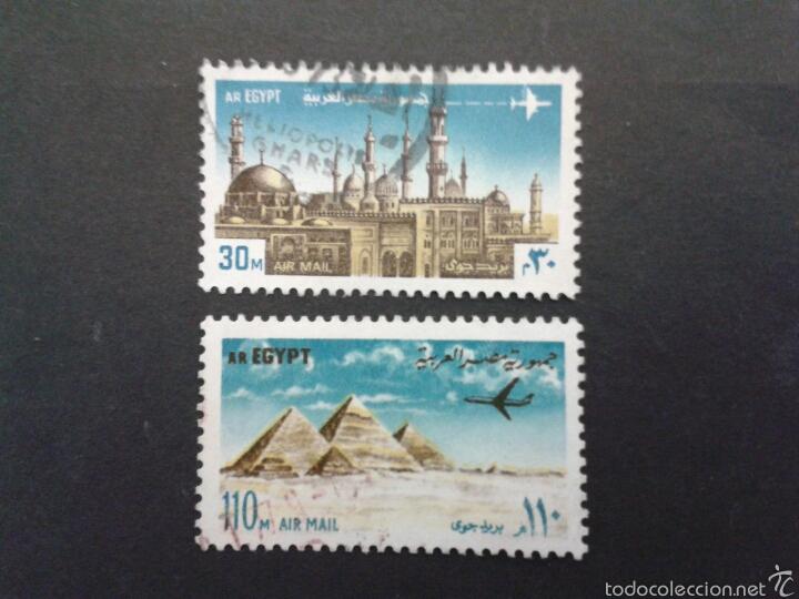 SELLOS DE EGIPTO.. YVERT A-141/2. SERIE COMPLETA USADA. (Sellos - Extranjero - África - Egipto)