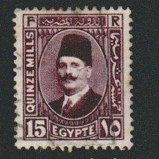 Sellos: EGIPTO.1936-37.-15 MILLS.YBERT.177.USADO.. Lote 76548811