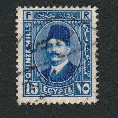 Sellos: EGIPTO.1927-32.-15 MILLS.YBERT.124.USADO.. Lote 76548911