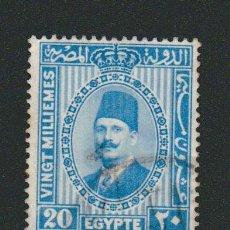 Sellos: EGIPTO.1927-32.-20 MILLS.YBERT.125B.USADO.. Lote 76549095
