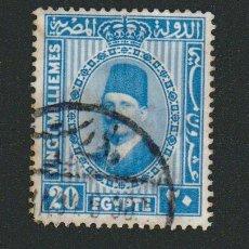 Sellos: EGIPTO.1927-32.-20 MILLS.YBERT.125B.USADO.. Lote 76549163