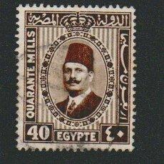 Sellos: EGIPTO.1927-32.-40 MILLS.YBERT.125C.USADO.. Lote 76549275