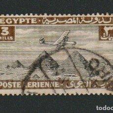 Sellos: EGIPTO.1933-38.CORREO AÉREO.-3 MILLS.YBERT.7.USADO.. Lote 76549647