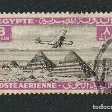 Sellos: EGIPTO.1933-38.CORREO AÉREO.-8 MILLS.YBERT.12.USADO.. Lote 76549787