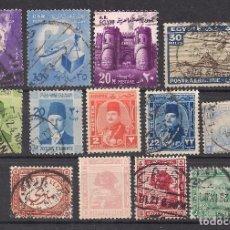 Sellos: EGIPTO - LOTE 13 SELLOS DIFERENTES - NUEVO Y USADO. Lote 99329679