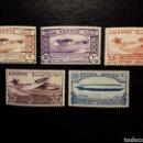 Sellos: EGIPTO. YVERT 150/4. SERIE COMPLETA NUEVA CON CHARNELA. AVIONES. GLOBO. ZEPPELIN. Lote 125356682