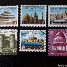 Sellos: EGIPTO. YVERT 875/80. SERIE COMPLETA USADA. SERIE BÁSICA. Lote 126047586