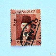 Sellos: SELLO POSTAL EGIPTO 1937 , 5 MILLIEME, REY FAROUK , USADO. Lote 154907354